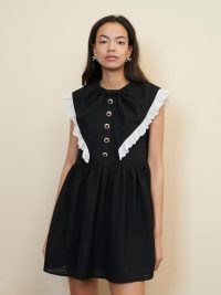sister jane Bounce Bow Sleeveless Mini Dress – womens frill trim dresses
