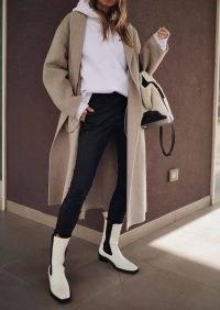 Tony Bianco Dua Dove Capretto Ankle Boots | women's monochrome retro footwear