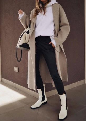 Tony Bianco Dua Dove Capretto Ankle Boots | women's monochrome retro footwear - flipped