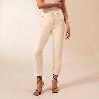 RIVER ISLAND Ecru RI Studio straight leg jeans | neutral toned denim