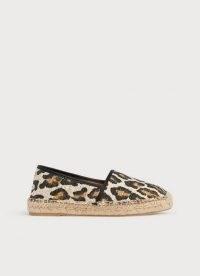 L.K. BENNETT ELSIE LEOPARD PRINT CANVAS ESPADRILLES / wild animal prints / espadrille flats / glamorous flat summer shoes