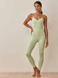 REFORMATION Emmy Ecostretch Jumpsuit / womens soft and stretchy skinny strap jumpsuits