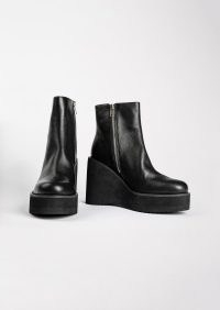 Tony Bianco Eres Black Venice Wedges | women's chunky wedged heel ankle boots | platform wedge boot