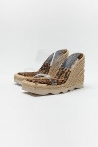 GOOD AMERICAN ESPADRILLE WEDGE | double clear strap wedges sandals
