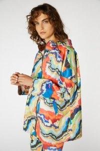Rebecca Scibilia x Gorman FELT TIP FOREST RAINCOAT – multicoloured bold print raincoats