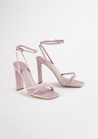 TONY BIANCO Fiance Mauve Nappa Heels ~ ankle strap high heel sandals
