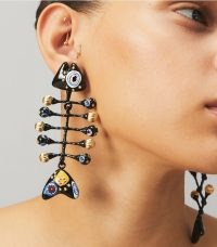 Tory Burch FISH PAINTED EARRING / sea inspired jewellery / statement drops