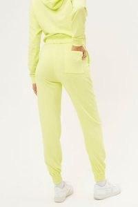 FRANKIES BIKINIS Frank Sweatpants Lemonade ~ women's yellow jogging bottoms ~ cuff hem joggers