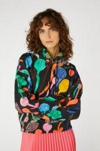 Georgia Szmerling x Gorman GEORGIAS GARDEN HOODIE ~ women's multicoloured vibrant print pullover hoodies