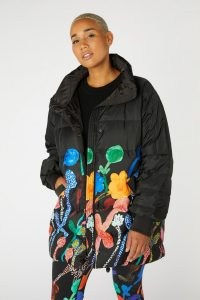 Georgia Szmerling x Gorman GEORGIAS GARDEN PUFFER – women's padded vibrant print jackets – multicoloured floral coats