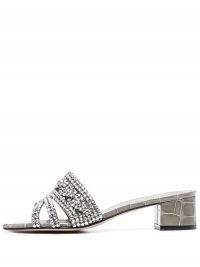 Gina open-toe mule sandals – embellished block heel mules