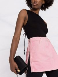 Givenchy pink side-zip denim skirt | candy coloured mini skirts