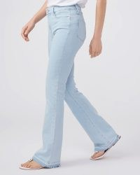 PAIGE High Rise Laurel Canyon 32″ in Kokomo | light blue wash vintage style denim | women's flared jeans