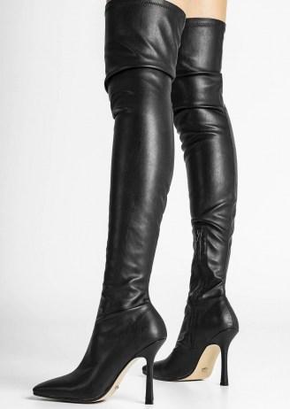 Tony Bianco Holli Black Venezia Long Boots | over the knee | thigh high stiletto heel boot