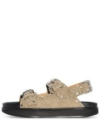 Isabel Marant Ophie slingback studded sandals ~ women's buckled sandal