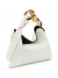 JW Anderson SMALL CHAIN HOBO – luxe top handle bags