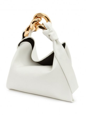 JW Anderson SMALL CHAIN HOBO – luxe top handle bags - flipped