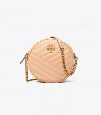 Tory Burch KIRA CHEVRON CIRCLE BAG / circular chain strap bags / round crossbody