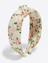 Draper James Knotted Headband in Magnolia | floral headbands | women's summer hair accessories