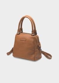 Tony Bianco Last Mountains Tan Cross Body Bag | light brown crossbody bags | top handle handbags