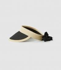 REISS LEXI WOVEN VISOR NATURAL / chic visors / womens beach accessories / poolside cover / women's beachwear accessory / summer hats