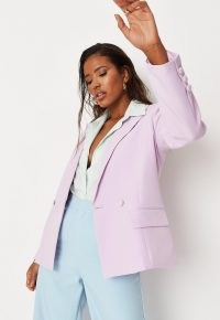 MISSGUIDED lilac oversized boyfriend blazer ~ women's trending blazers ~ on trend summer jackets