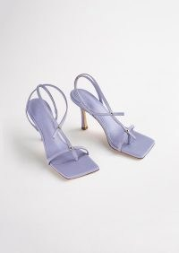 TONY BIANCO Lilly Lilac Nappa Heels ~ strappy square toe sandals