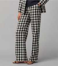 Tory Burch LINEN GINGHAM PANT / women's checked summer trousers
