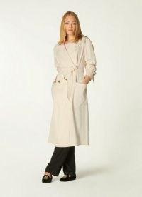 L.K. BENNETT MAGGIE CREAM TRENCH COAT ~ chic belted coats