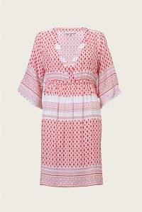 heidi klein Marrakesh Tie Side Kaftan / tile print poolside kaftans / womens beach cover up / beach dresses