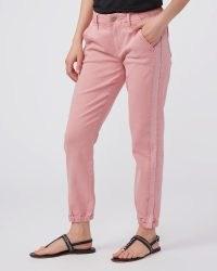 PAIGE Mayslie Jogger Grossgrain Vintage Sunset | women's casual side stripe trousers