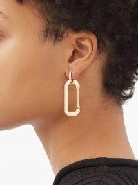 EÉRA Chiara diamond & 18kt gold single earring / womens fine jewellery / women's statement accessories / modern designs