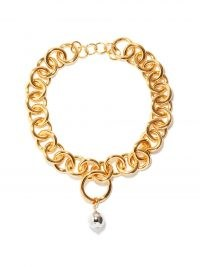 JIL SANDER Chunky spherical-charm choker / statement chain link chokers / women's designer jewellery
