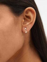 SOPHIE BILLE BRAHE Goutte diamond & 18kt gold single earring ~ luxe jewellery ~ fine jewelry