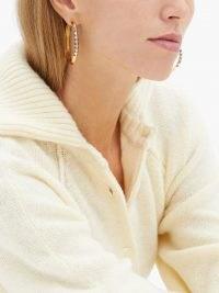 HARWELL GODFREY Sapphire & 18kt gold hoop earrings / luxe gemstone hoops