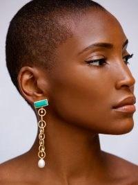 AMMANII The Rebel Queen Nefertiti gold-vermeil earrings / long luxe drops / glamorous statement jewellery