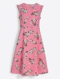 Draper James Midi Love Circle Dress in Magnolia | pink floral flutter sleeve summer dresses
