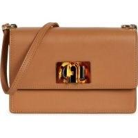 FURLA 1927 Mini Crossbody ~ chic brown flap bags