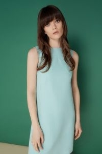 jane atelier MONIQUE SCALLOP DRESS Aqua   sleevless shift dresses   retro fashion