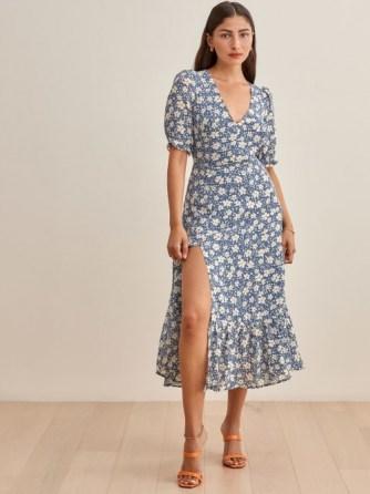 REFORMATION Belgium Dress – floral frill hem dresses - flipped