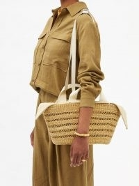 MUUÑ George woven-straw basket bag / chic summer baskets / womens shoulder bags
