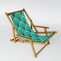 Lisa Jayne Murray Nouveau Coquille Sling Chair ~ garden furniture ~ stylish wood frame outdoor chairs