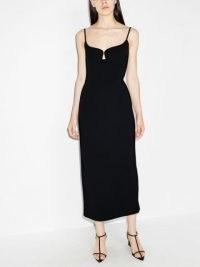 Paris Georgia Marlo fitted midi dress ~ chic LBD ~ little black evening dresses ~ cocktail glamour