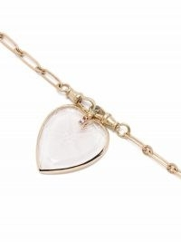 Pascale Monvoisin 9kt yellow gold Gabin sapphire crystal heart necklace ~ luxe pendant necklaces ~ hearts