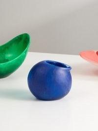 DINOSAUR DESIGNS Pearl marbled-resin milk jug ~ blue contemporary tableware