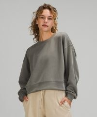 lululemon Perfectly Oversized Cropped Crew / womens slouchy drop shoulder sweatshirt / women's sweatshirts
