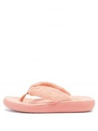 ANCIENT GREEK SANDALS Charisma pink terry flip flops | womens summer flatforms