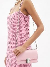 GIVENCHY 4G small pink leather crossbody bag – luxe chain strap bags
