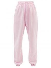 THE FRANKIE SHOP Vanessa pink cotton track pants | womens cuff hem joggers | women's cuffed jogging bottoms | casual fashion | loungewear