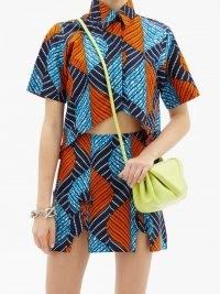 LISA FOLAWIYO Akira Ankara-print cotton top ~ women's bold printed shirts